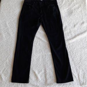 Paige |  Federal Black Slim Straight Leg Jeans